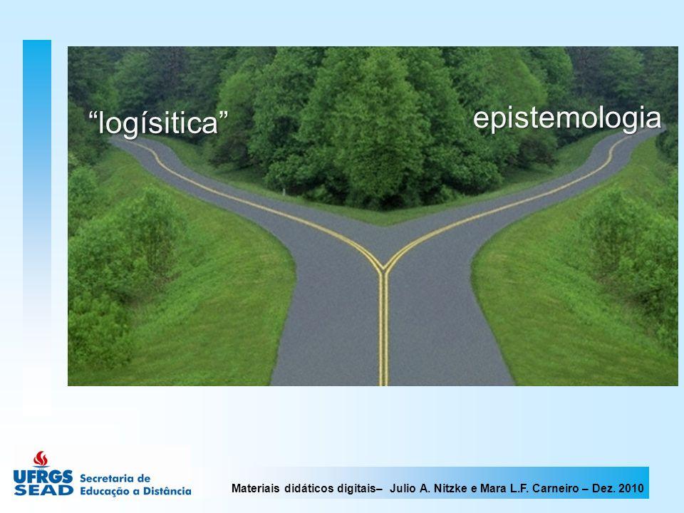 Materiais didáticos digitais– Julio A. Nitzke e Mara L.F. Carneiro – Dez. 2010 epistemologia logísitica logísitica