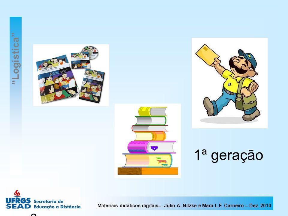 Materiais didáticos digitais– Julio A. Nitzke e Mara L.F. Carneiro – Dez. 2010 6 1ª geração Logística