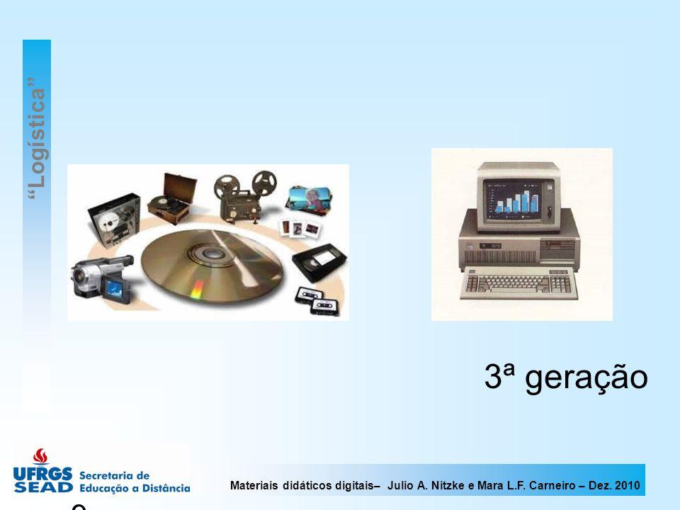 Materiais didáticos digitais– Julio A. Nitzke e Mara L.F. Carneiro – Dez. 2010 9 3ª geração Logística