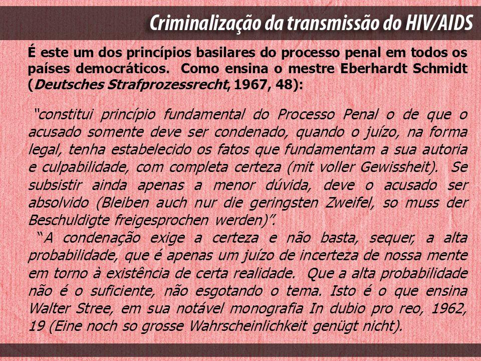 É este um dos princípios basilares do processo penal em todos os países democráticos. Como ensina o mestre Eberhardt Schmidt (Deutsches Strafprozessre