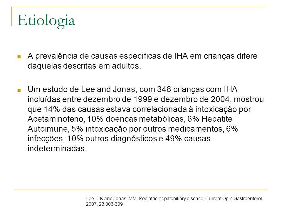 Causas indeterminadas Em muitos casos, a causa da insuficiência hepática não pode ser elucidada.
