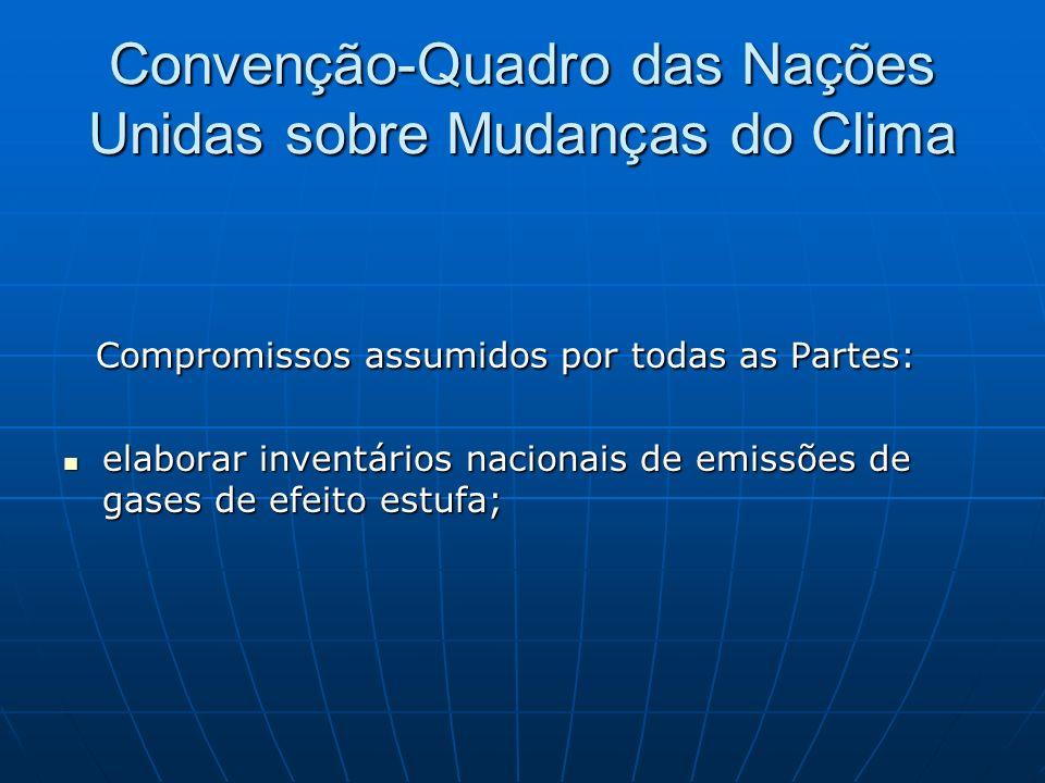 Convenção-Quadro das Nações Unidas sobre Mudanças do Clima Compromissos assumidos por todas as Partes: Compromissos assumidos por todas as Partes: ela