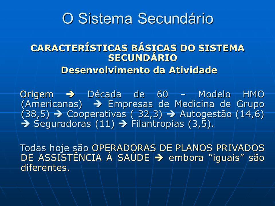 O Sistema Secundário CARACTERÍSTICAS BÁSICAS DO SISTEMA SECUNDÁRIO Desenvolvimento da Atividade Desenvolvimento da Atividade Origem Década de 60 – Mod