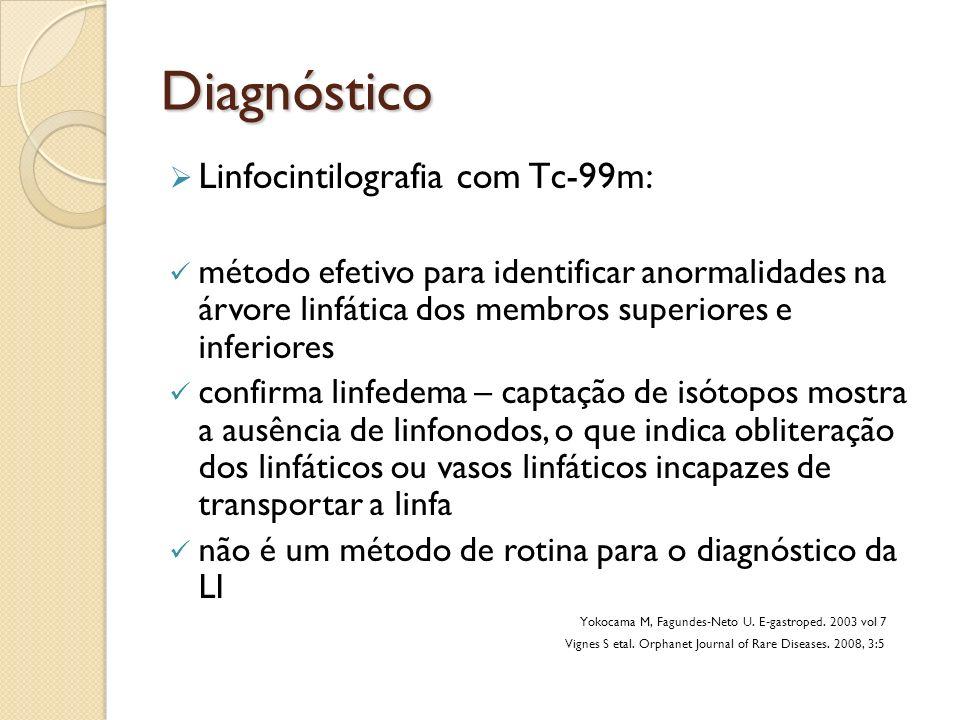 Diagnóstico Linfocintilografia com Tc-99m: método efetivo para identificar anormalidades na árvore linfática dos membros superiores e inferiores confi