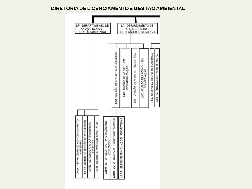 DIRETORIA DE LICENCIAMENTO E GESTÃO AMBIENTAL