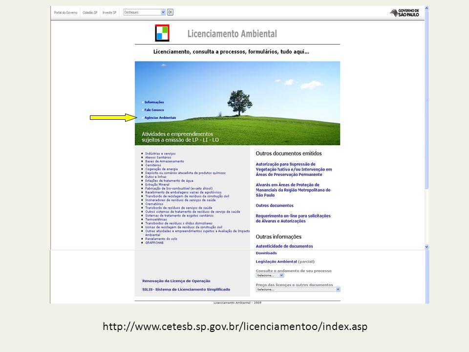 http://www.cetesb.sp.gov.br/licenciamentoo/index.asp