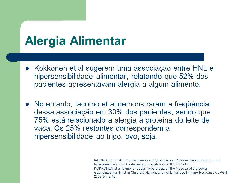 Alergia Alimentar Kokkonen et al sugerem uma associação entre HNL e hipersensibilidade alimentar, relatando que 52% dos pacientes apresentavam alergia