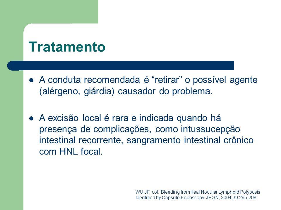 Tratamento A conduta recomendada é retirar o possível agente (alérgeno, giárdia) causador do problema. A excisão local é rara e indicada quando há pre