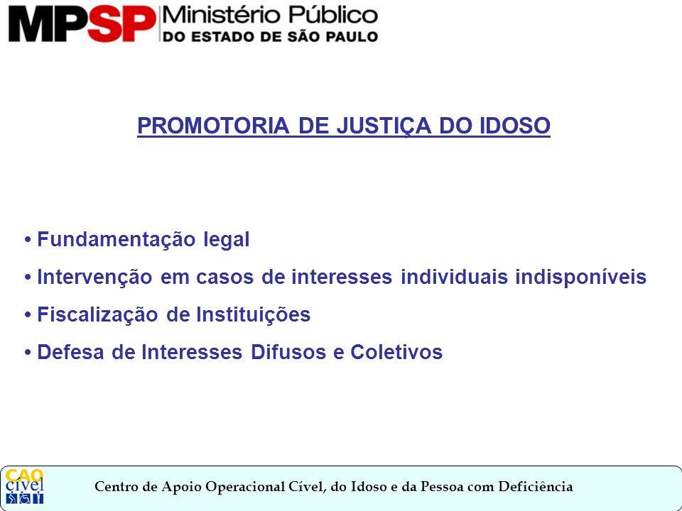 Centro de Apoio Operacional Cível, do Idoso e da Pessoa com Deficiência Fundamentação Legal