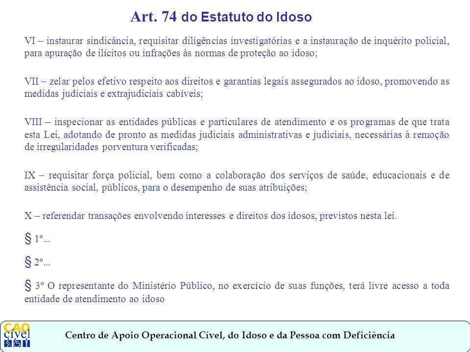 Centro de Apoio Operacional Cível, do Idoso e da Pessoa com Deficiência Ato Normativo nº.