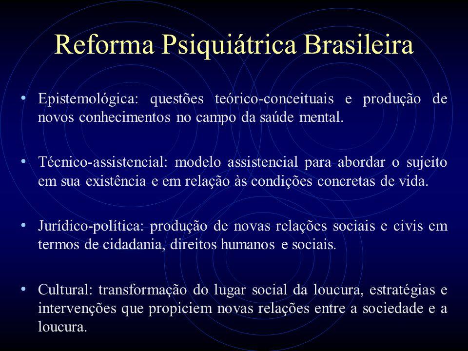 Reforma Psiquiátrica Brasileira Epistemológica: questões teórico-conceituais e produção de novos conhecimentos no campo da saúde mental. Técnico-assis
