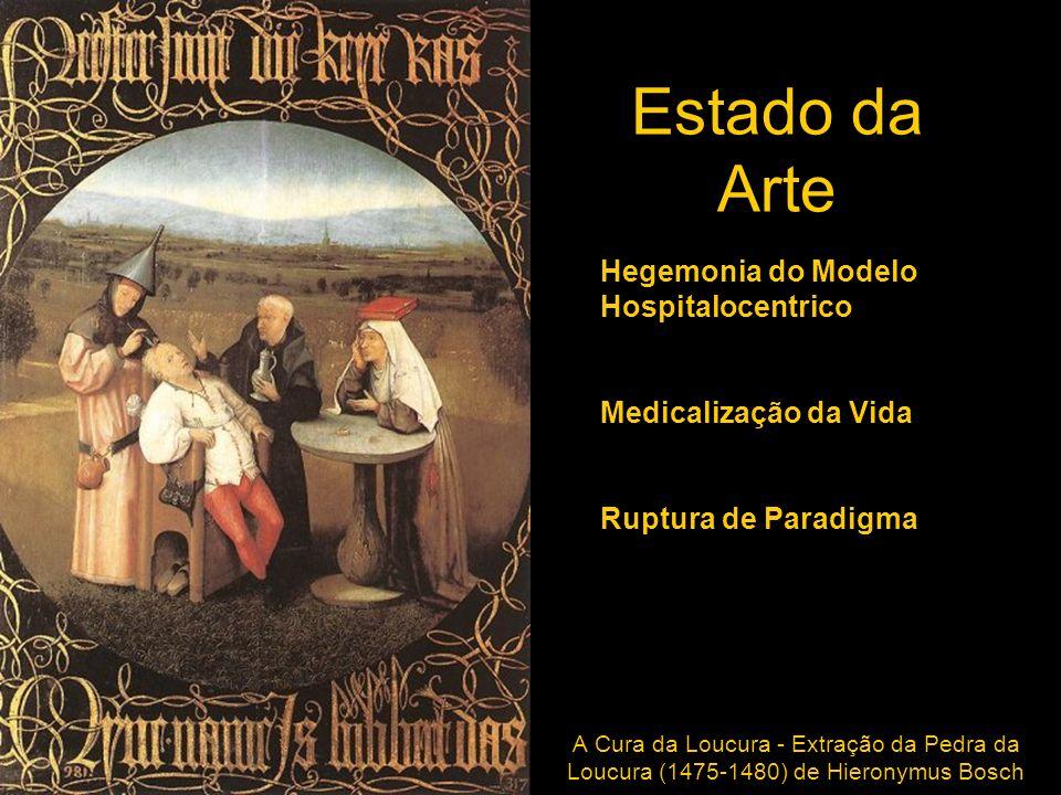 Estado da Arte A Cura da Loucura - Extração da Pedra da Loucura (1475-1480) de Hieronymus Bosch Hegemonia do Modelo Hospitalocentrico Medicalização da