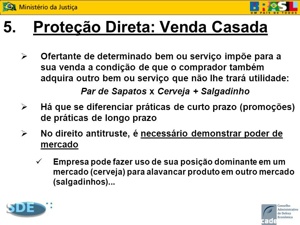 5.Proteção Direta: Venda Casada Ofertante de determinado bem ou serviço impõe para a sua venda a condição de que o comprador também adquira outro bem