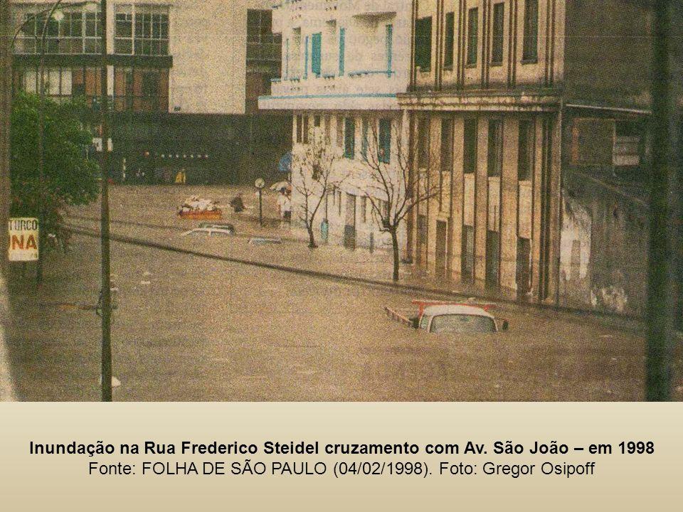 Inundação na Rua Frederico Steidel cruzamento com Av.