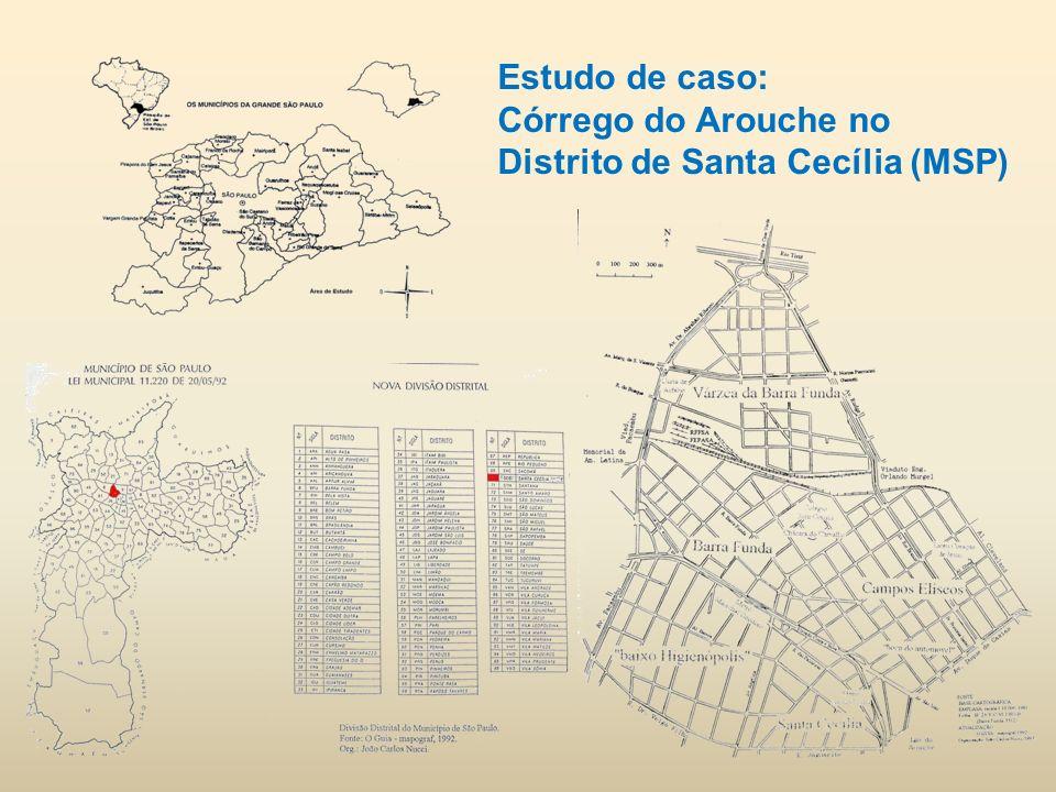 Estudo de caso: Córrego do Arouche no Distrito de Santa Cecília (MSP)