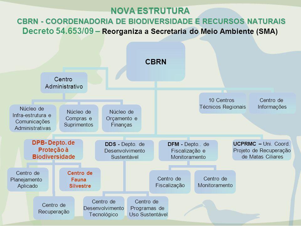 NOVA ESTRUTURA CBRN - COORDENADORIA DE BIODIVERSIDADE E RECURSOS NATURAIS NOVA ESTRUTURA CBRN - COORDENADORIA DE BIODIVERSIDADE E RECURSOS NATURAIS De