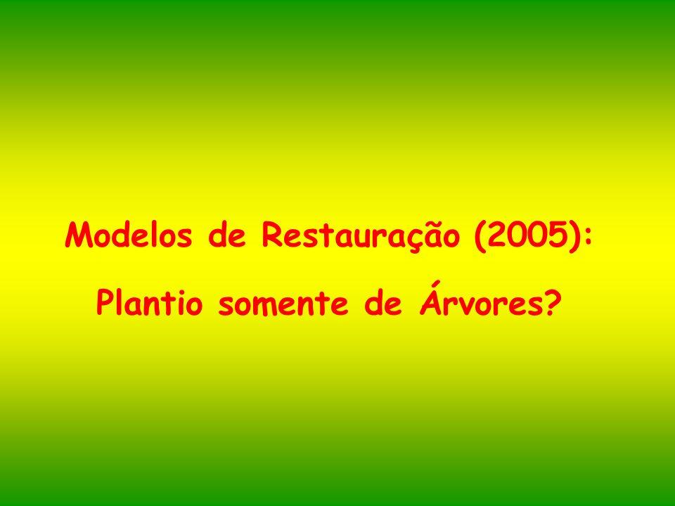 Modelos de Restauração (2005): Plantio somente de Árvores?