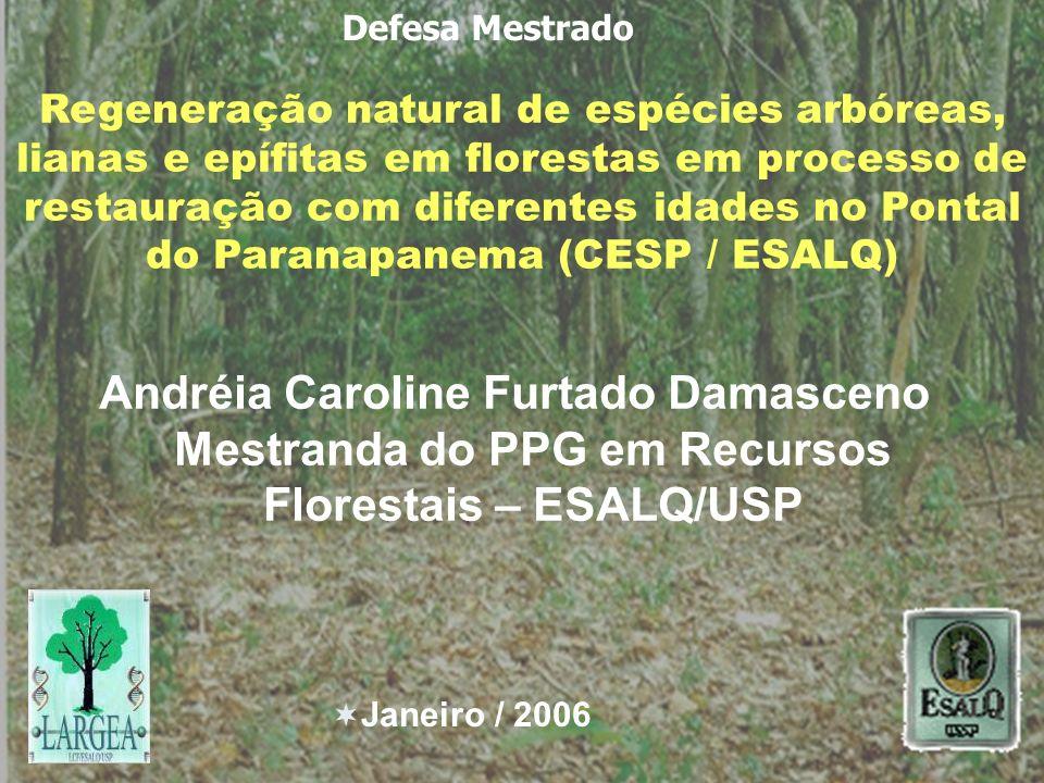 Regeneração natural de espécies arbóreas, lianas e epífitas em florestas em processo de restauração com diferentes idades no Pontal do Paranapanema (C
