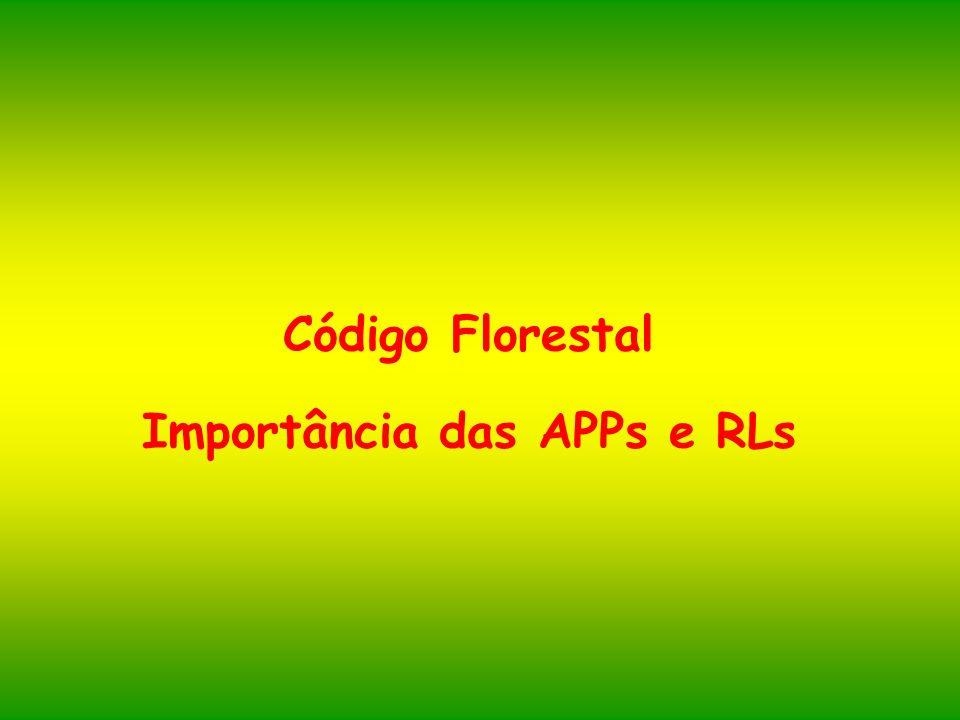 Código Florestal Importância das APPs e RLs