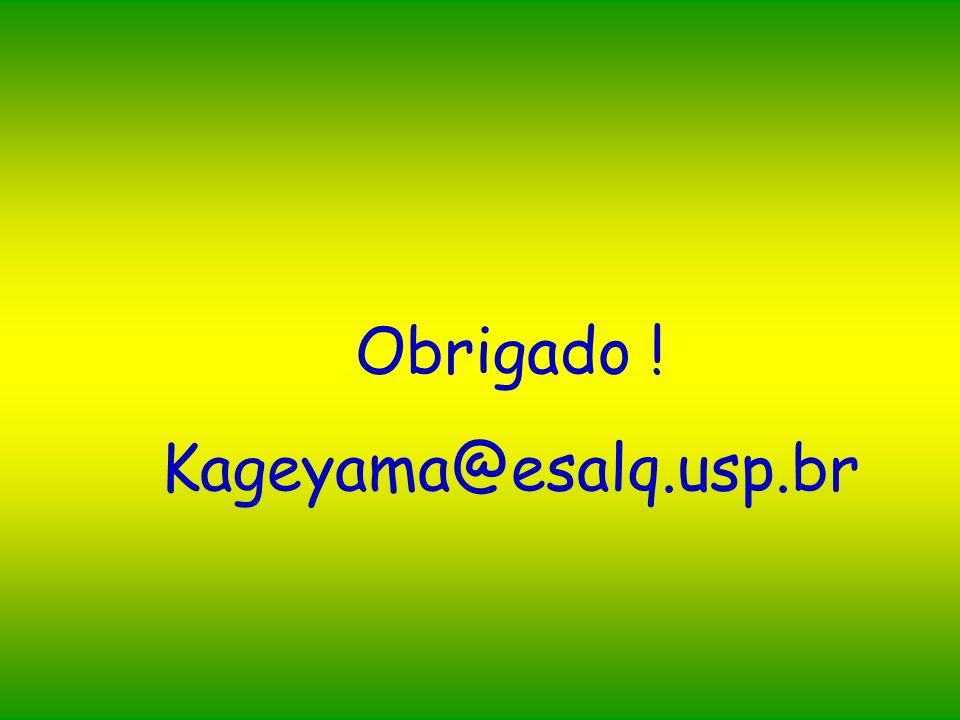 Obrigado ! Kageyama@esalq.usp.br