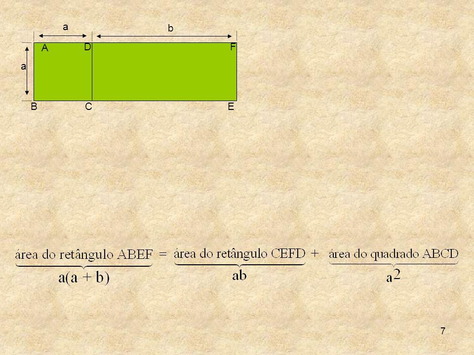 18 Trinômios porque possuem três termos, quadrados perfeitos porque o primeiro representa o quadrado de (x + y), enquanto o segundo representa o quadrado de (x – y).