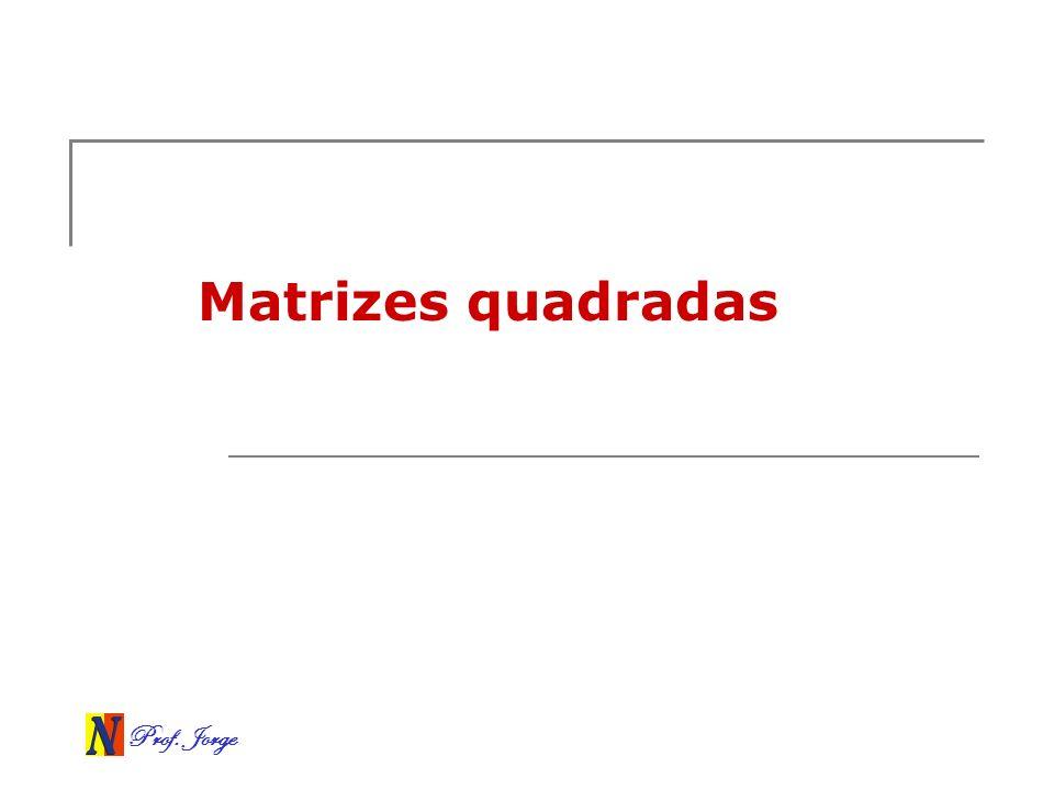 Prof. Jorge Matrizes quadradas