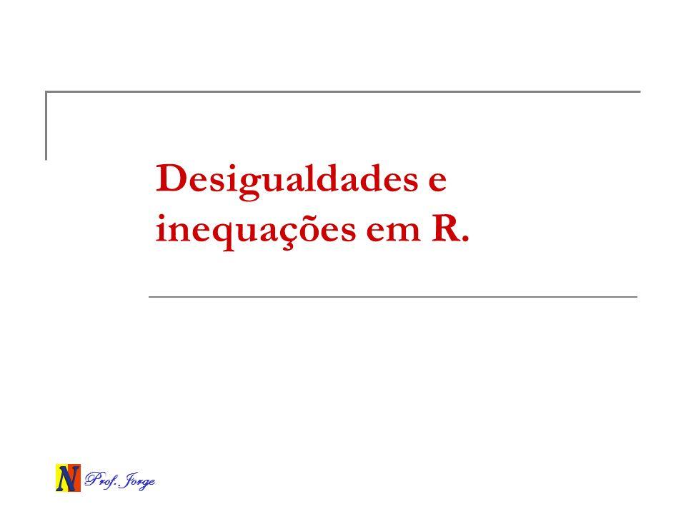 Prof. Jorge Desigualdades e inequações em R.