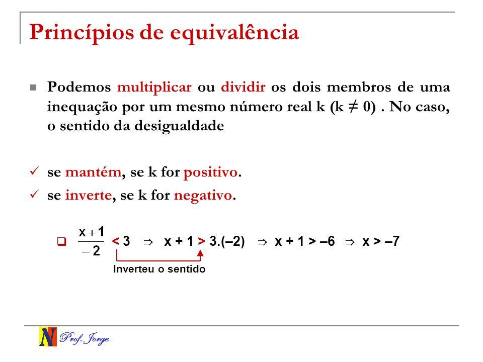 Prof.Jorge Inequações-produto e inequações-quociente.