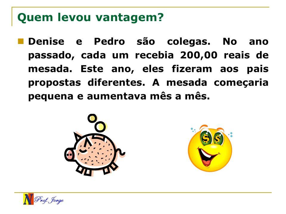 Prof.Jorge Soma finita na P.G. constante (q = 1) Os termos de uma P.G.
