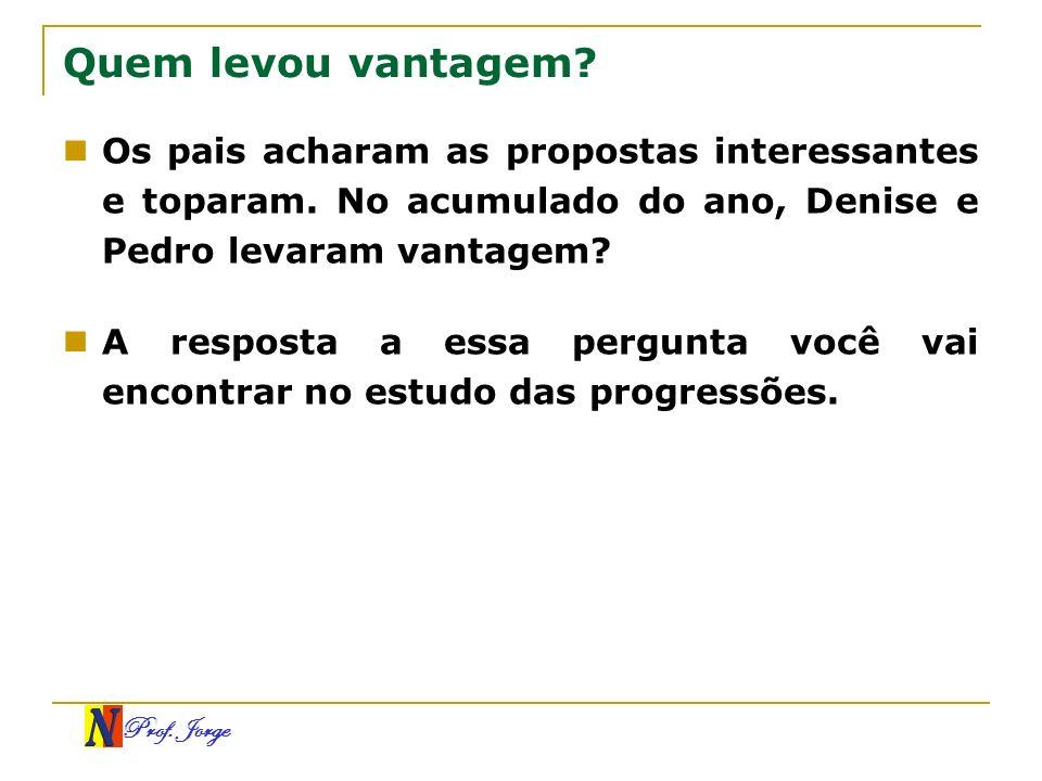 Prof.Jorge Exemplos (3, 3, 3, 3, 3, 3, 3...) É uma P.G.