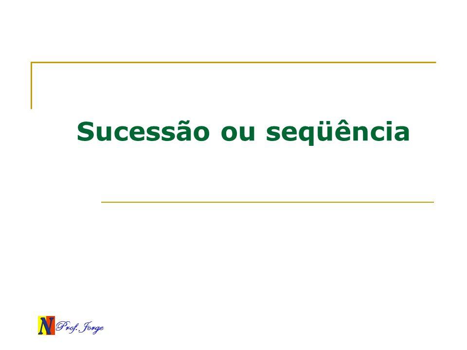 Prof.Jorge Exemplos Na P.G. (3, 6, 18,...) achar o oitavo termo e o termo geral a n.