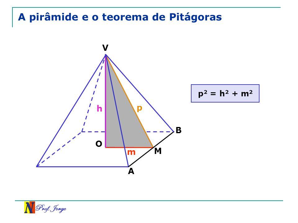 Prof. Jorge A pirâmide e o teorema de Pitágoras p 2 = h 2 + m 2 V B A M O h m p