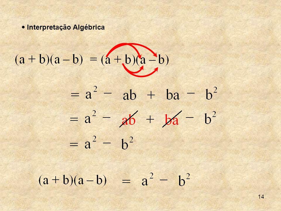 14 Interpretação Algébrica