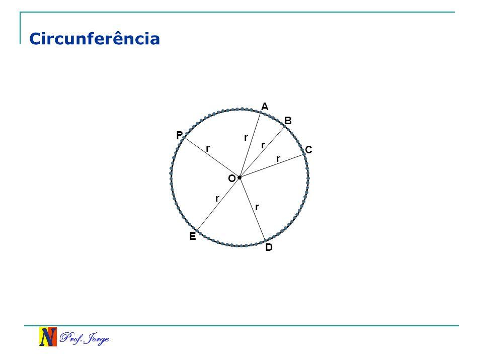 Prof. Jorge O Circunferência A B C D E P r r r r r r