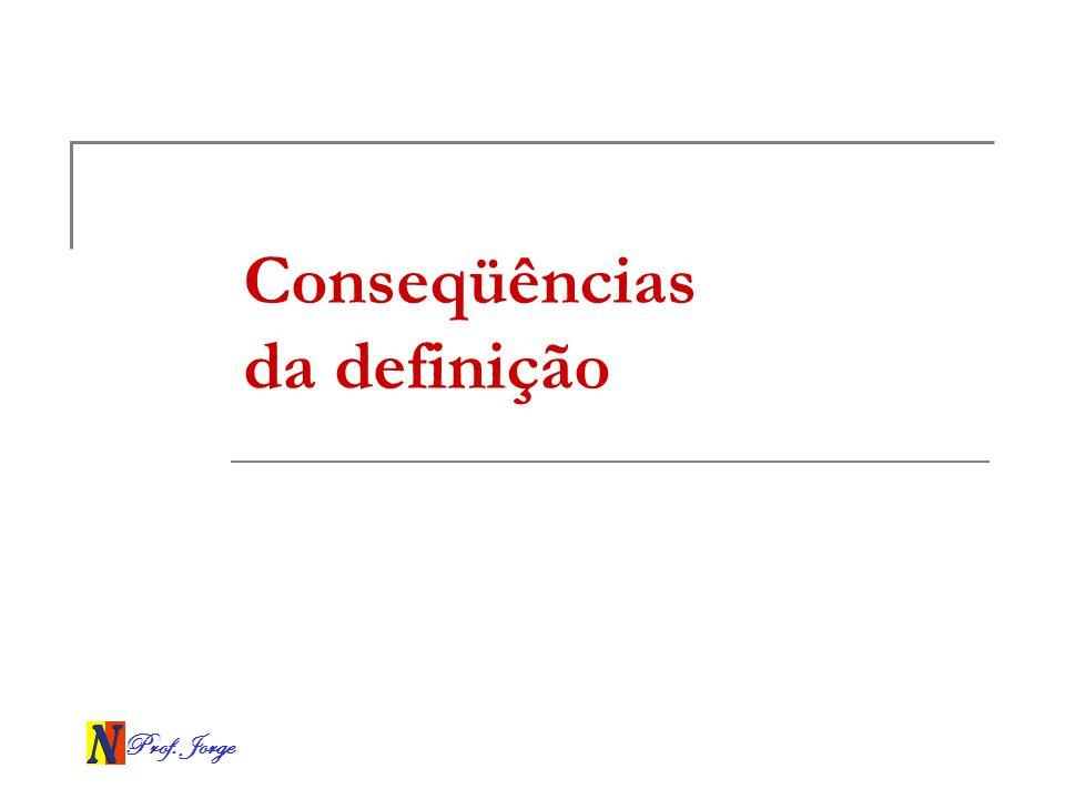Prof. Jorge Conseqüências da definição