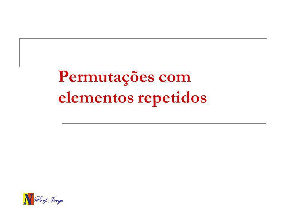 Prof. Jorge Permutações com elementos repetidos
