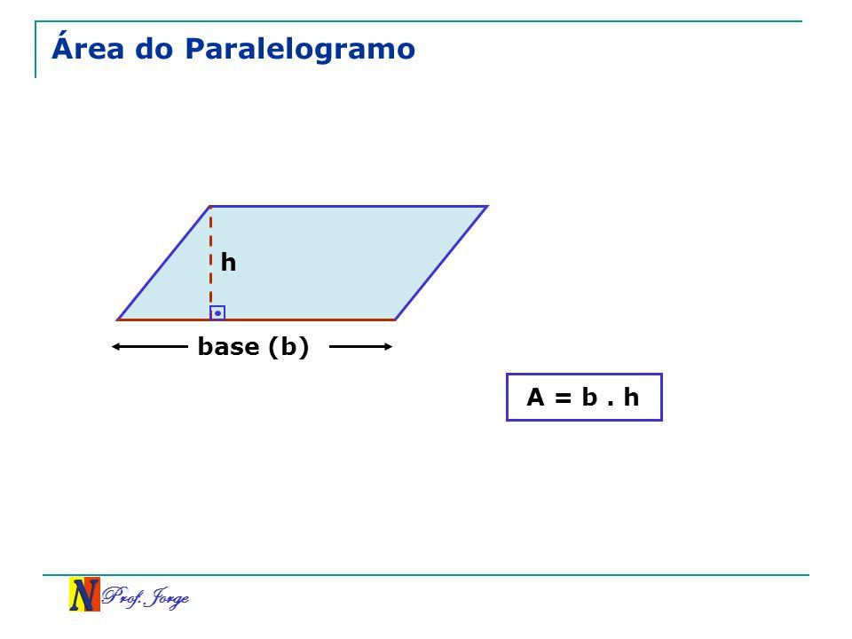 Prof. Jorge Área do Paralelogramo h A = b. h base (b)