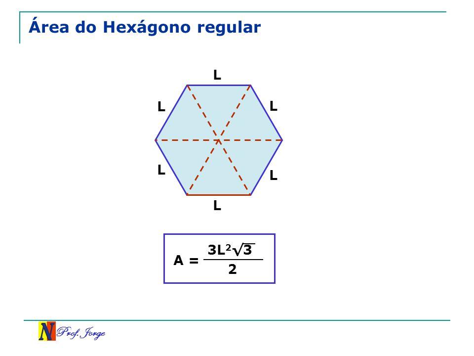 Prof. Jorge Área do Hexágono regular L L L L L L A = 3L 2 3 2