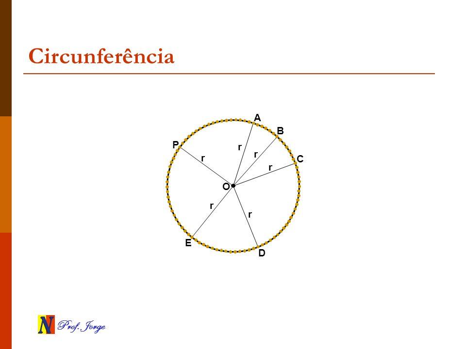 Prof. Jorge Circunferência O A B C D E P r r r r r r