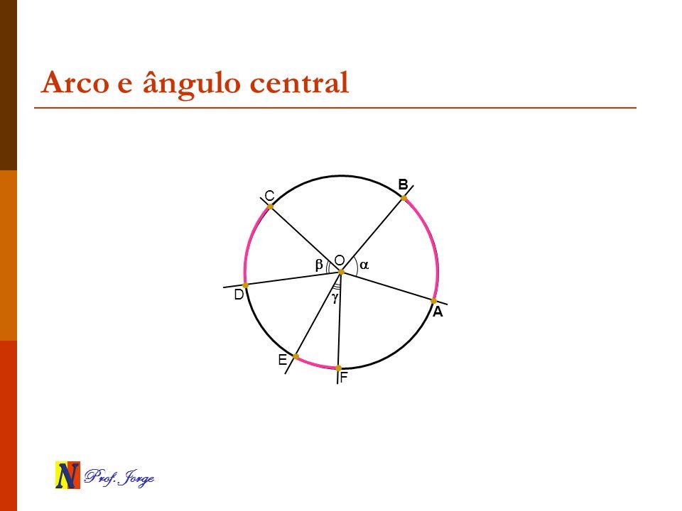 Prof. Jorge Arco e ângulo central A B O C D E F