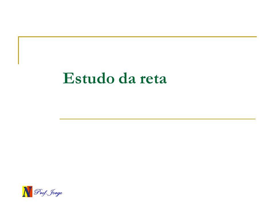 Prof. Jorge Estudo da reta