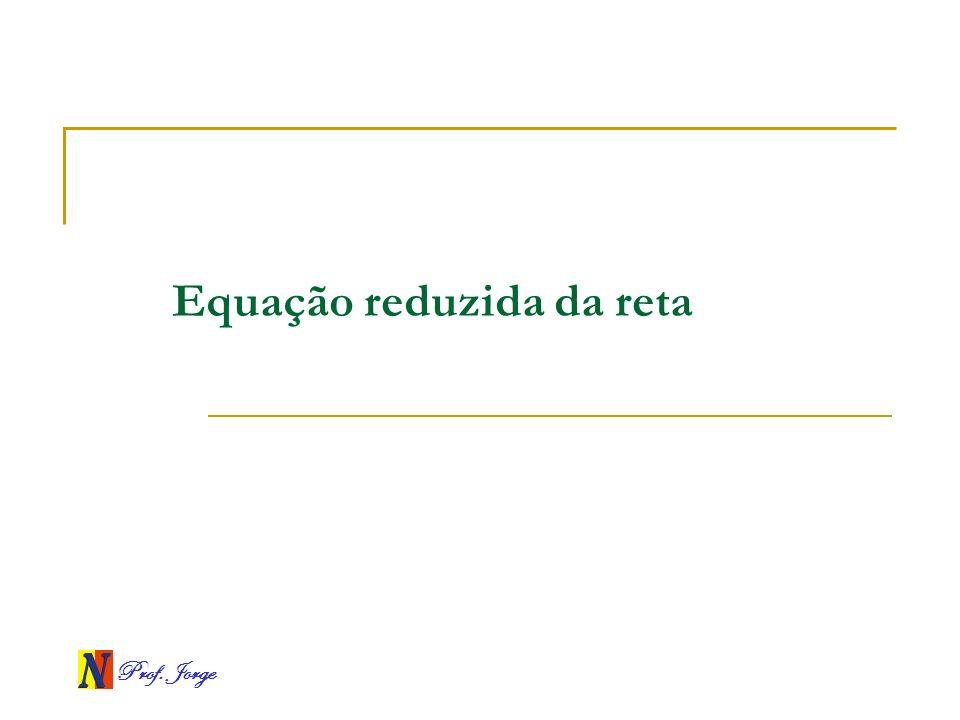 Prof. Jorge Equação reduzida da reta