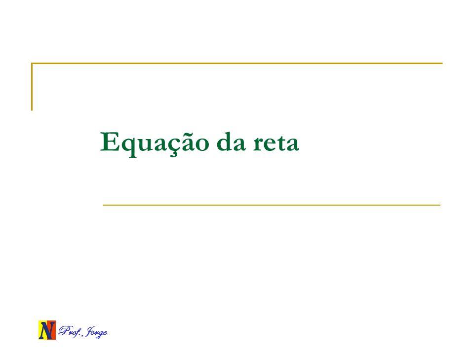 Prof. Jorge Equação da reta