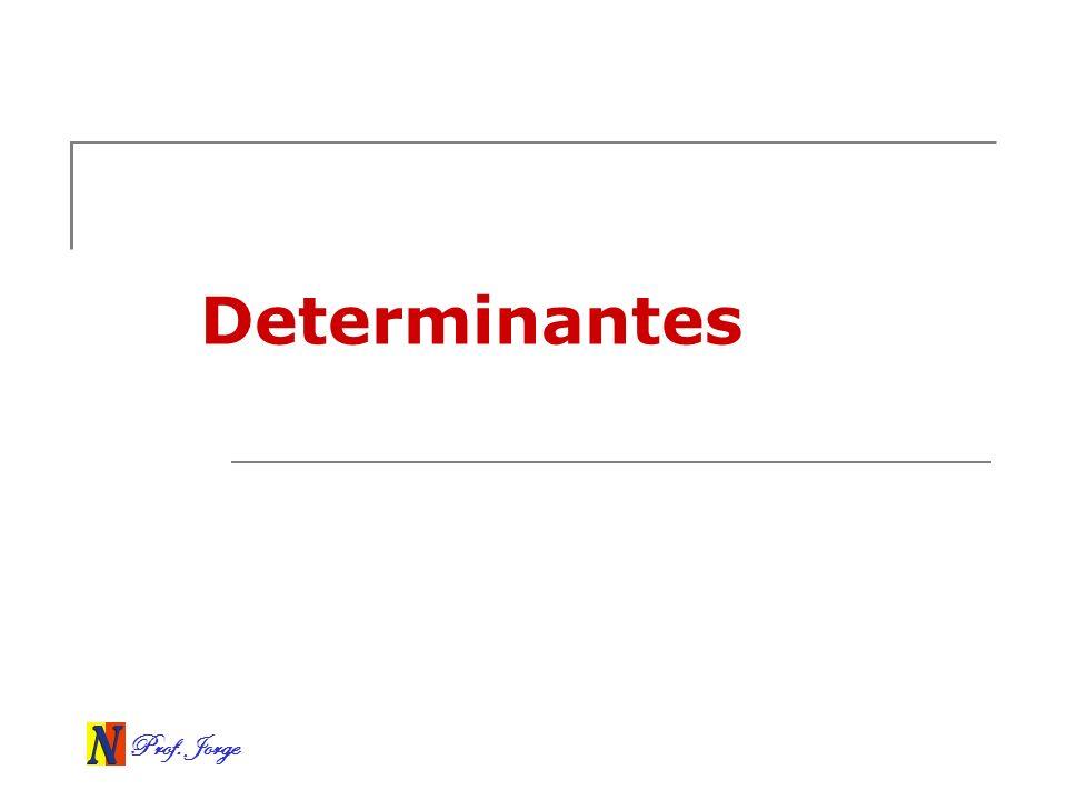 Prof. Jorge Determinantes de matrizes n x n