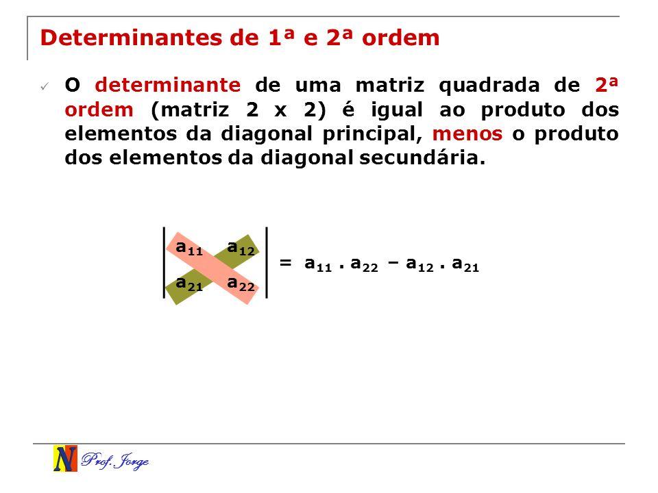 Prof.Jorge 2–5 1–3 Exemplo Determine a inversa da matriz A abaixo.