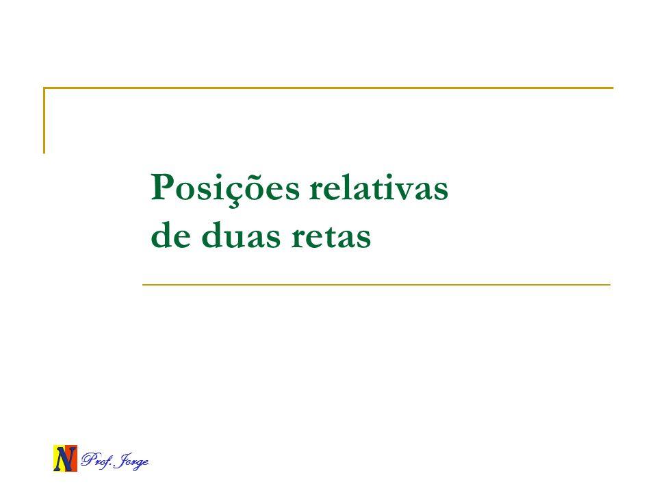 Prof. Jorge Posições relativas de duas retas