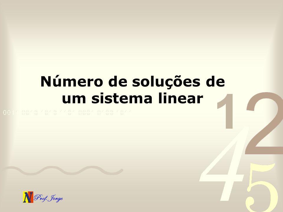 Prof. Jorge Número de soluções de um sistema linear