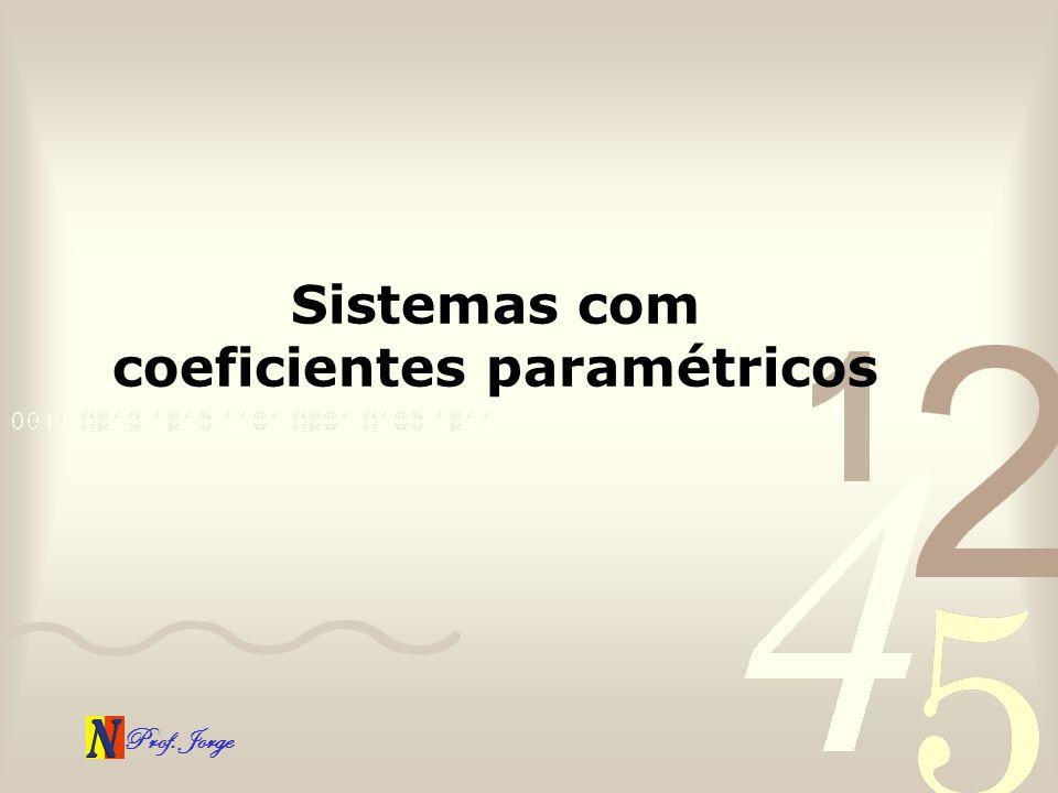 Prof. Jorge Sistemas com coeficientes paramétricos