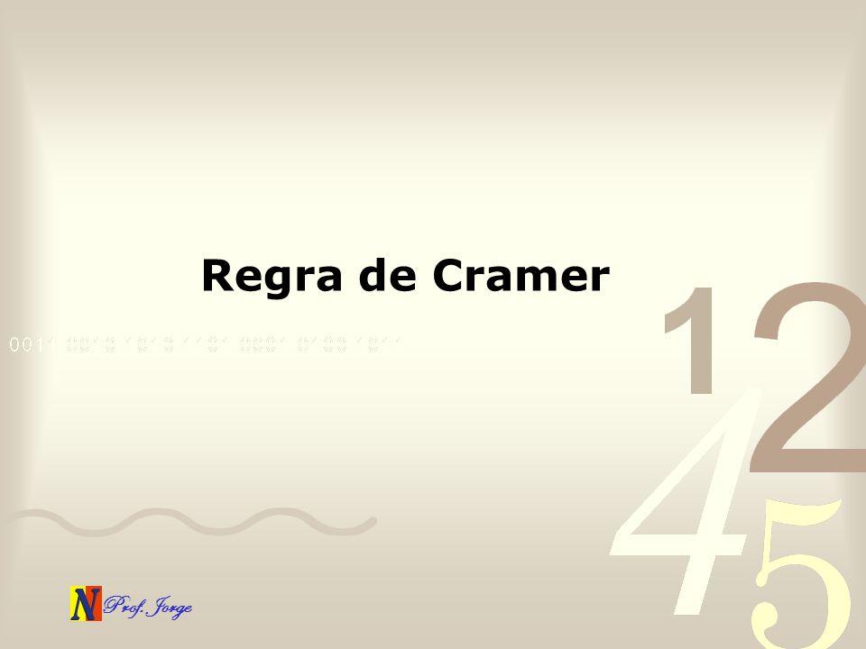 Prof. Jorge Regra de Cramer