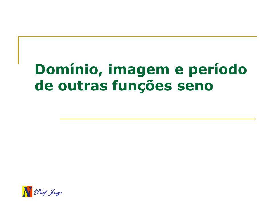 Prof. Jorge Domínio, imagem e período de outras funções seno